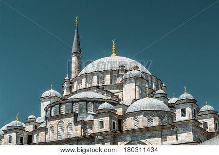 The Fatih Mosque (Conqueror's Mosque) in Istanbul, Turkey