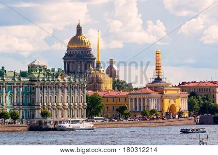 Admiralty and St. Isaac's Cathedral in St. Petersburg, Russia