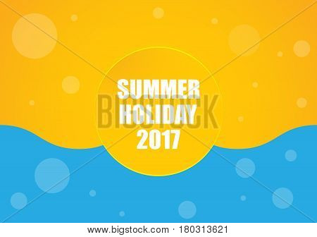 summer holiday 2017 background yellow-blue abstract design