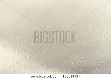 Raindrops On Glass, Spectacular Color Background