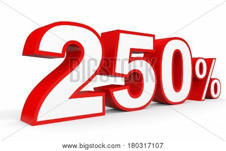 Two Hundred And Fifty Percent. 250 %. 3D Illustration.