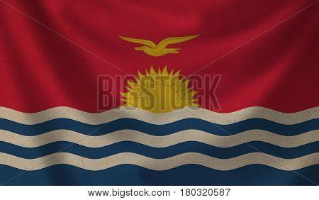 Vintage background with flag of Kiribati. Grunge style.