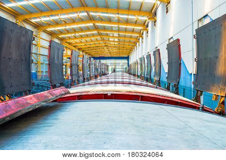 Huge crossrail segments built for a tube project in the factory