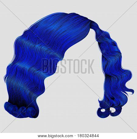woman short  hairs dark blue . fashion beauty retro style . realistic  3d .