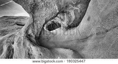 Desert Wind Caves Landscape In Anza Borrego