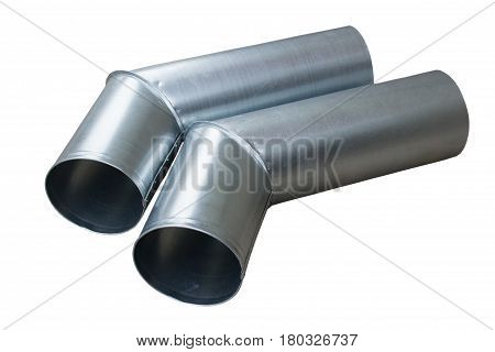 pipe isolated on white background drain zinc