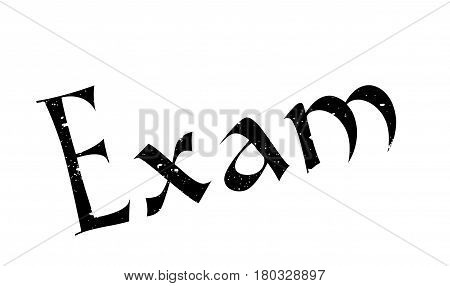 Exam rubber stamp. Grunge design with dust scratches. Effects can be easily removed for a clean, crisp look. Color is easily changed.