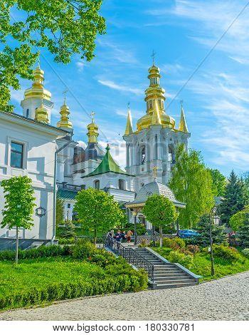 The Courtyard Of Kiev Pechersk Lavra