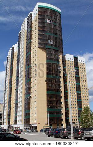 PERM RUSSIA-JUNE 26 2016: Modern residential complex in Perm. Russia.
