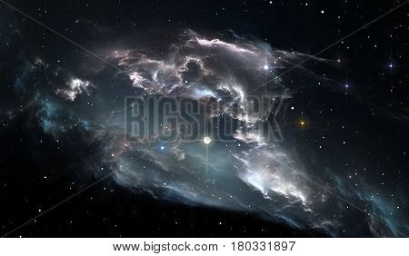 Space star nebula. Space background with nebula and stars