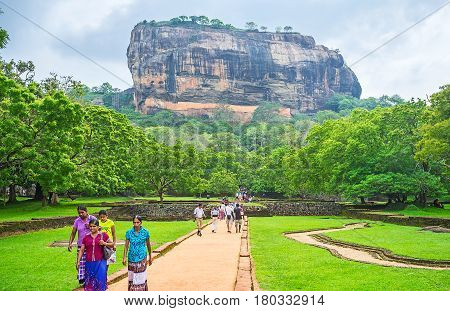 The Way To Sigiriya Rock