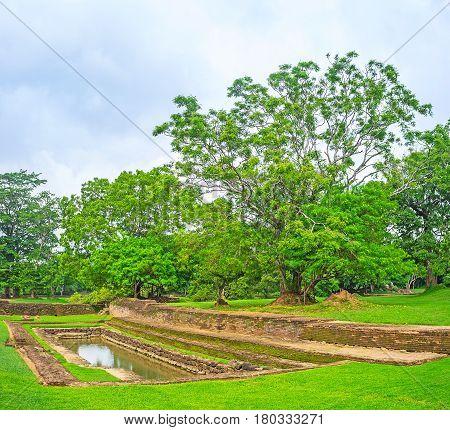 The Small Reservoir In Sigiriya