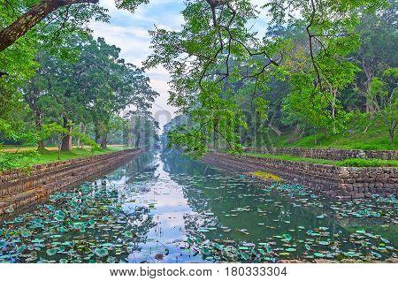 Embankment Of Sigiriya Moat