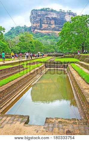 SIGIRIYA SRI LANKA - NOVEMBER 27 2016: Sigiriya historic complex is te pearl of Sri Lanka it boasts picturesque sites and interesting tourist destinations on November 27 in Sigiriya.