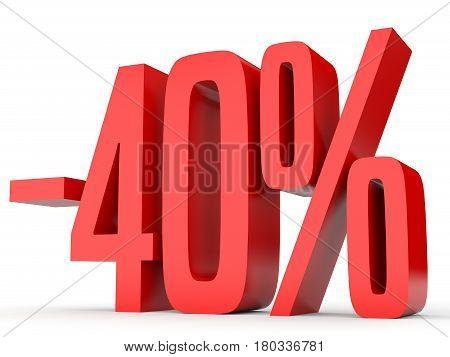 Minus Forty Percent. Discount 40 %.