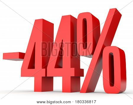 Minus Forty Four Percent. Discount 44 %.