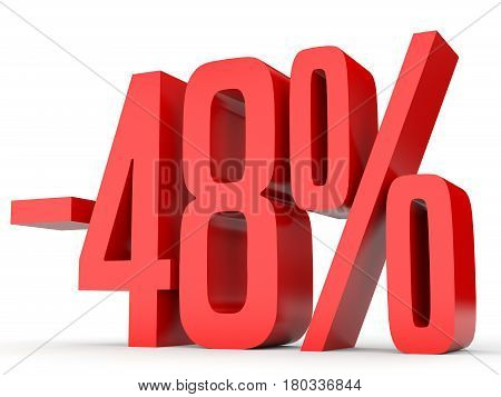 Minus Forty Eight Percent. Discount 48 %.