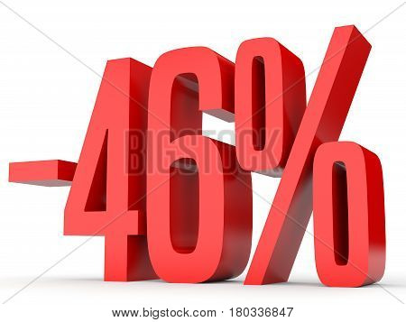 Minus Forty Six Percent. Discount 46 %.
