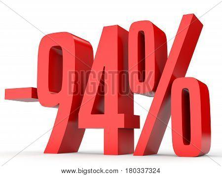 Minus Ninety Four Percent. Discount 94 %.