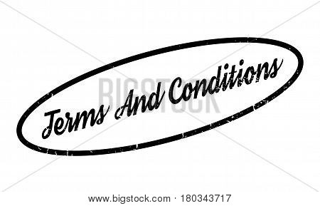 Terms And Conditions rubber stamp. Grunge design with dust scratches. Effects can be easily removed for a clean, crisp look. Color is easily changed.