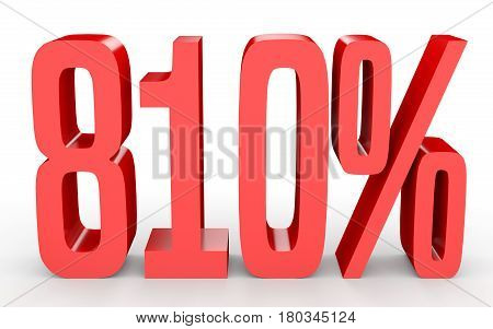 Eight Hundred And Ten Percent. 810 %. 3D Illustration.