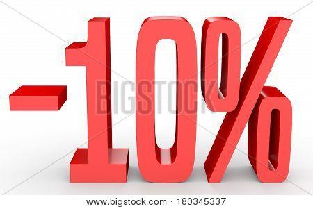 Minus Ten Percent. Discount 10 %.
