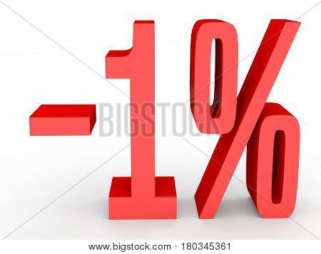 Minus One Percent. Discount 1 %.