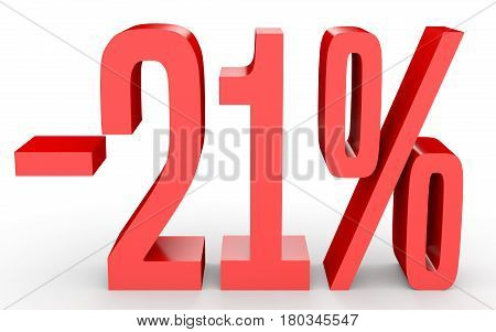 Minus Twenty One Percent. Discount 21 %.