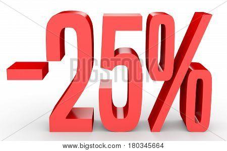 Minus Twenty Five Percent. Discount 25 %.