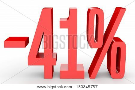 Minus Forty One Percent. Discount 41 %.