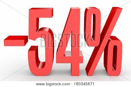 Minus Fifty Four Percent. Discount 54 %.
