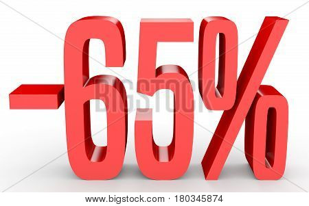 Minus Sixty Five Percent. Discount 65 %.