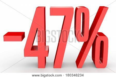 Minus Forty Seven Percent. Discount 47 %.