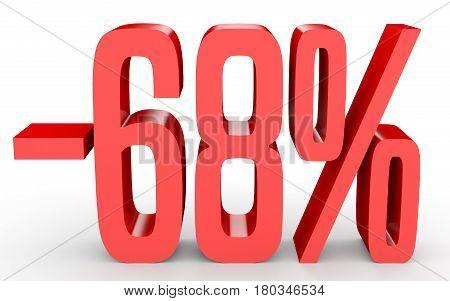 Minus Sixty Eight Percent. Discount 68 %.