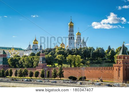 View of the Moscow Kremlin from Moskva River