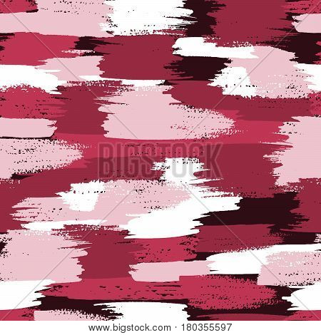 Vector military camouflage pattern. Pink brush camouflage.