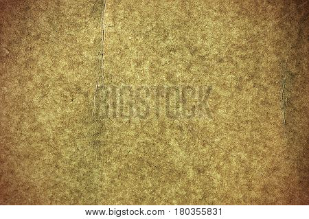 Old grunge painted parchment paper texture close-up