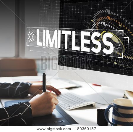 Computer technology limitless graphic poster