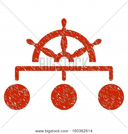 Grunge Rule icon with grunge design and dust texture. Unclean vector red pictogram for rubber seal stamp imitations and watermarks. Draft sticker symbol.