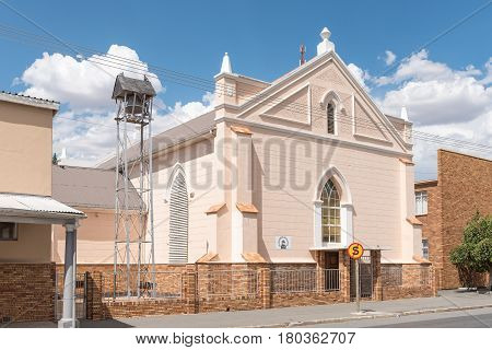 MIDDELBURG SOUTH AFRICA - MARCH 21 2017: The historic old Reformed church in Middelburg a town in the Eastern Cape Province