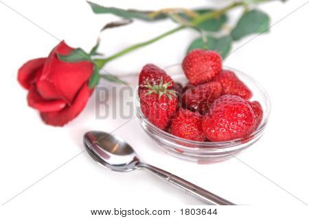 Strawberries And Rose