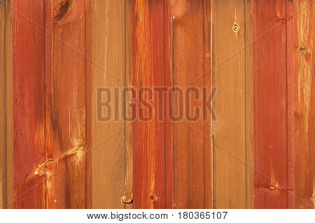 Old Obsolete Wooden Wall Board Background Texture Red-Brown Color.