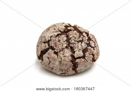 chocolate biscuits cookie isolated on white background