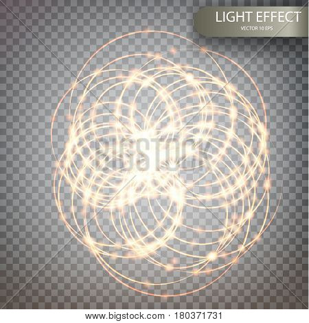 Glitter Magic Sparkle Swirl Trail Effect