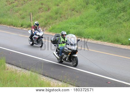 Speeding Motorbikes Travelling Onto Freeway Onramp