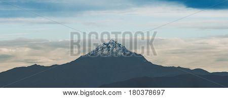 The beautiful Pichincha Mountain in Quito Ecuador