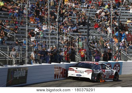 April 02, 2017 - Martinsville, Virginia, USA: Danica Patrick (10) sits in turn four after an accident during the STP 500 at Martinsville Speedway in Martinsville, Virginia.