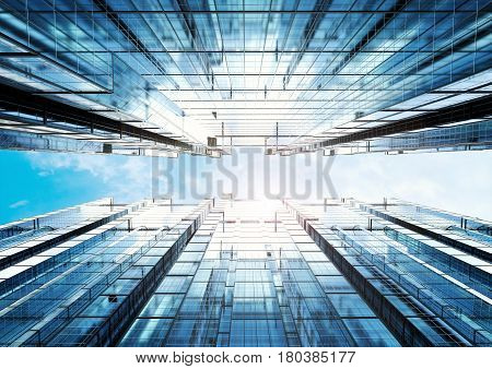 Highrise Office Building Abstract Background