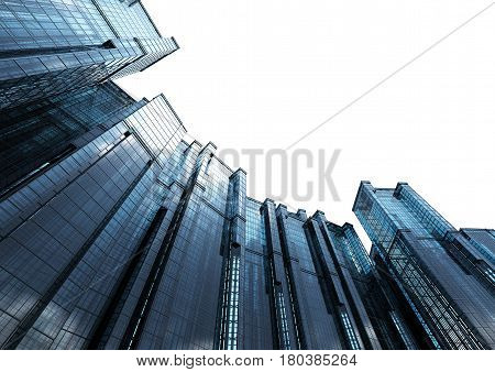 3d rendering highrise office building in city