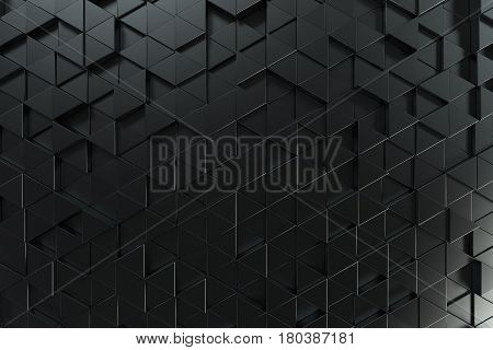 Pattern Of Black Triangle Prisms
